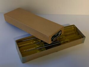 NOS-Stanley-Cabinet-Tip-6-Slot-Screwdrivers-Qty-6-and-Box