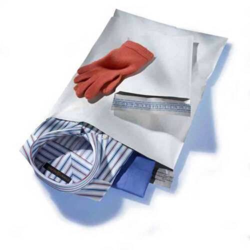 """500 Pieces 3 Mil 6/"""" x 9/"""" Poly Mailers White Plastic Envelope Self Sealing Bags"""
