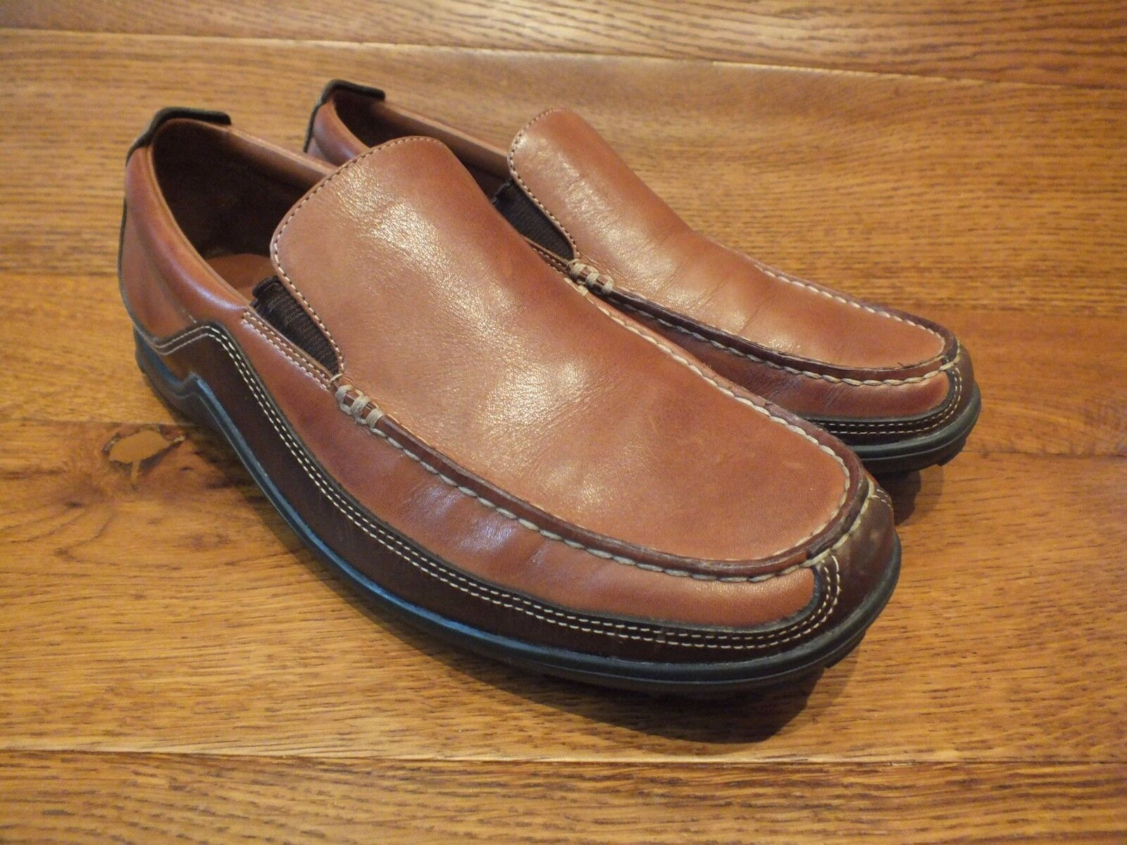 Cole Haan Slip Tucker VENEZIANA Tan/Marrone Pelle Slip Haan On Mocassini EU 41 f6a24f