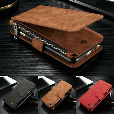 Genuine Leather Case Cover Multifunction Zipper Wallet Card For iPhone 6/6S Plus