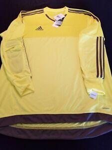 90ecbfa8a45 New Mens Adidas Top 15 Long Sleeve Soccer Goalkeeper Jersey Style ...