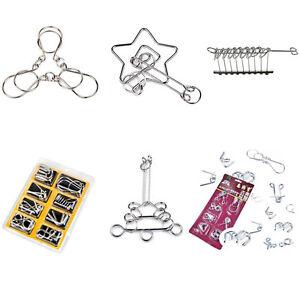 Casse-tete-en-metal-puzzle-anneau-de-fil-de-jeu-IQ-Test-Mind-Game-Astuce-enfantI