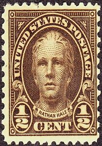 Image Is Loading US Postage Stamp PHOTO MAGNET Nathan Hale 1925