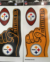 Pittsburgh Steelers Foam Fingers Decals 2 Sets Of Finger Football Ultra Decals