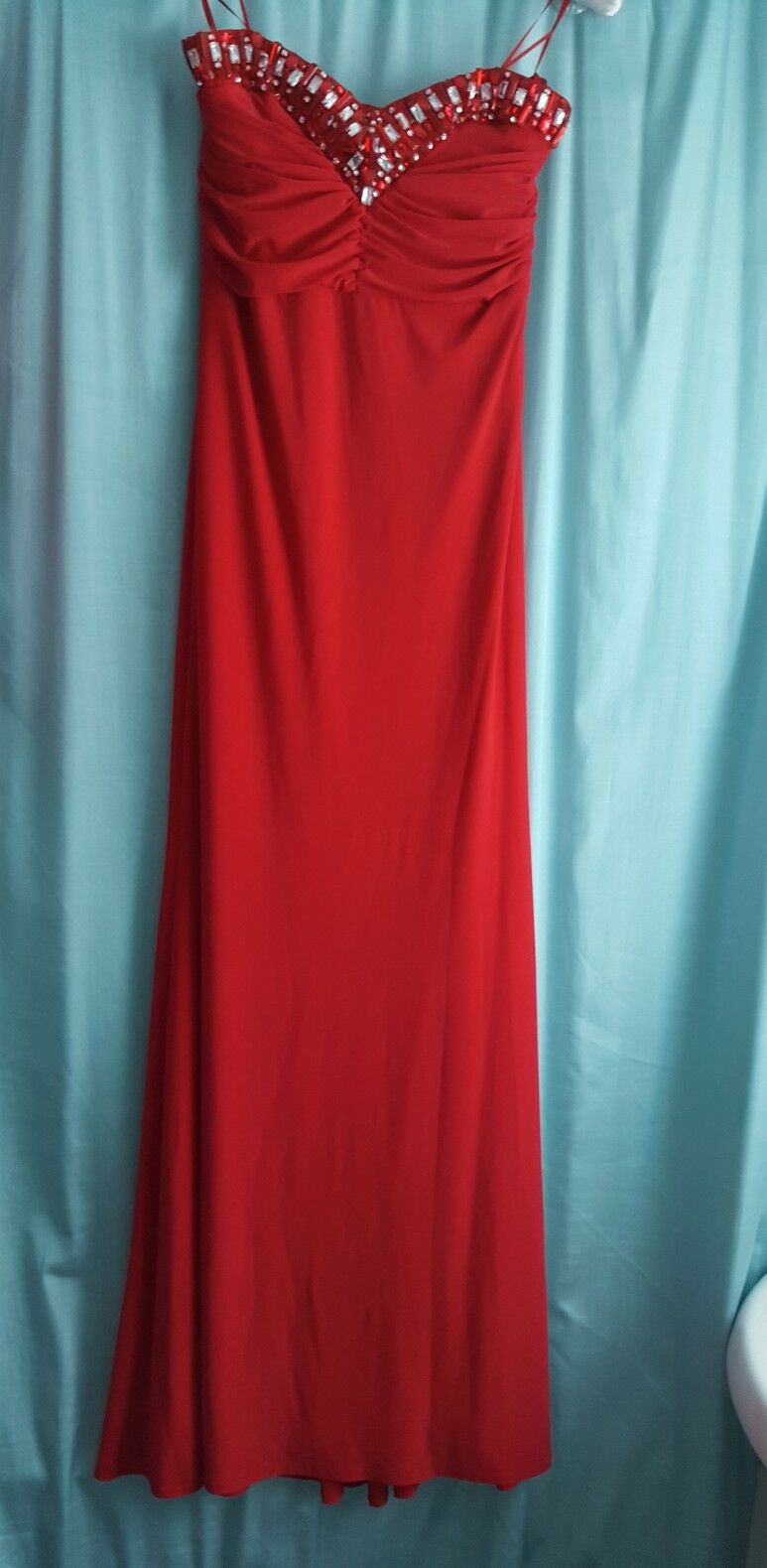 Red Jane Norman Evening Dress Prom Prom Prom Wedding BNWT 14 Dimantee Bustier a213ea