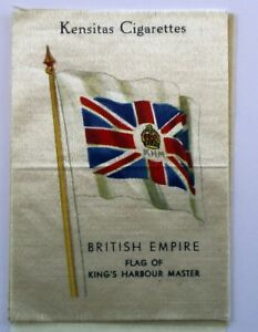 Kensitas-Cigarettes-British-Empire-Flag-of-Kings-Harbour-Master-Silk-Patch