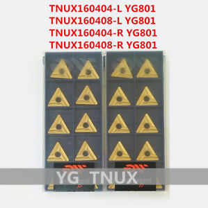 YG-1 10Pcs RCMT0803MO YG801 CNC Turning Carbide inserts For Steel Replace VP15TF