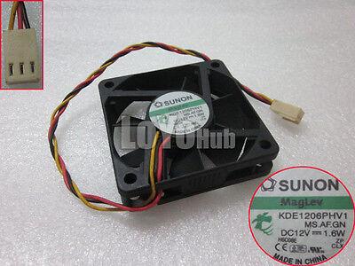 for SUNON KDE1206PHV1 6015 DC12V 1.6W 6cm Cooling Fan