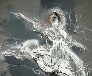 Glorieux Jacques Pecnard (1922) La Danse : Grande Technique Mixte Danseuse Montmorency Nouveau Design (En);