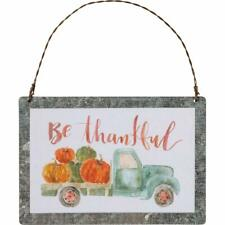 Harvest Blessings Tin Small Hanging Sign Ornament Primitives By Kathy Fall Decor