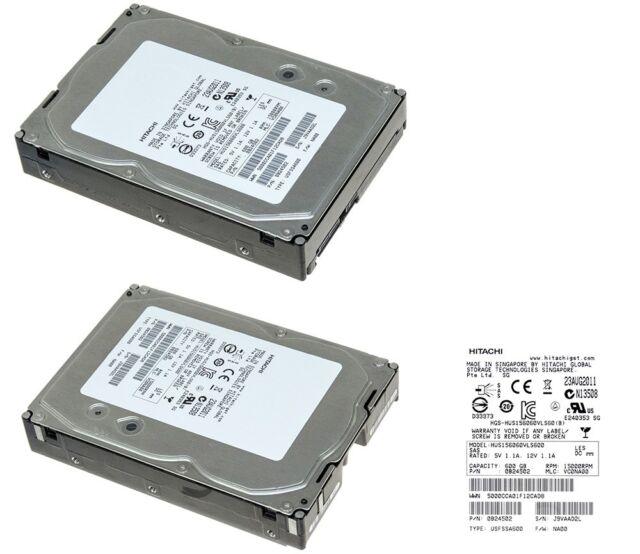 """Hitachi HUS156060VLS600 600GB 15000RPM 3.5/"""" SAS Hard Drive"""