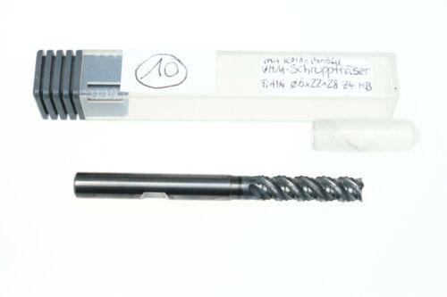 VHM-Fräser 6mm Schruppfräser HPC