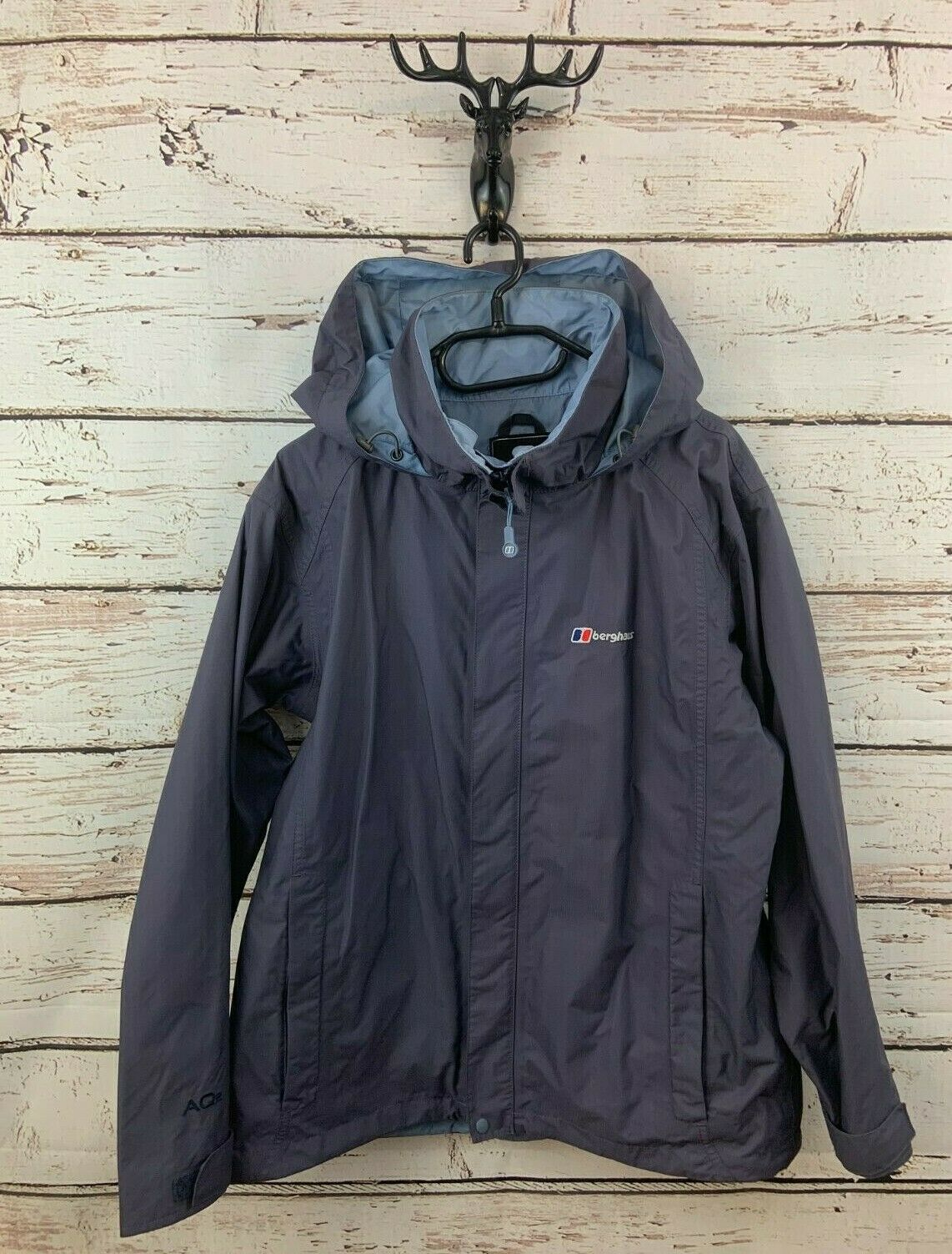 BERGHAUS Womens Jacket Coat 14 Purple Nylon Hooded