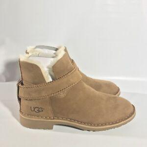 3942de38ec4 Details about UGG Mckay Chestnut Suede Sheepskin Ankle Boots Booties Size  US 9.5 Womens