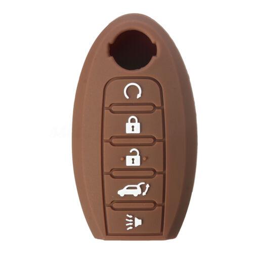 5 Button Remote Key Fob Case shell Silicone Cover For Nissan Altima Maxima