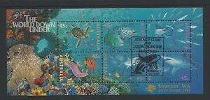 1995-The-World-Down-Under-Overprinted-Adelaide-amp-Swanpex-WA-Mini-Sheet-MUH