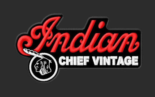 INDIAN CHIEF VINTAGE EMBROIDERED PATCH ~4-1/4x 2-1/2 MOTORCYCLE BIKER RIDER V2