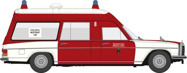 Brekina Starmada 13817 Mercedes Benz/8 KTW Binz Feuerwehr Mühlheim HO 1:87 NEU