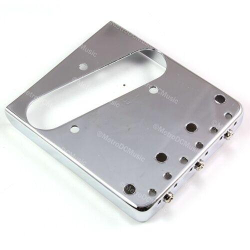 Wilkinson Lefty Chrome Telecaster Bridge Brass Saddles Tele Left Hand WTBCR LH