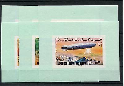 Luftfahrt Briefmarken Mauretanien 539/44 6 Postfrische Sonderblöcke Zeppelin .................1/2119 Ungleiche Leistung