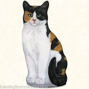 Door stops calico cat doorstop calico cat door stop ebay - Cat door stoppers ...
