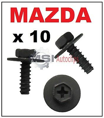 10 x MAZDA Mudflap Wheel Arch Liner Screw with Washer