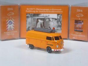 Wiking-C-amp-I-Sondermodell-VW-T1-Strassenmeisterei-Stadtwerke