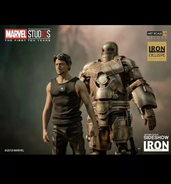 Iron Studios  Marvel Tony Stark and Mark I BDS Art Scale 1//10 Del Iron Man