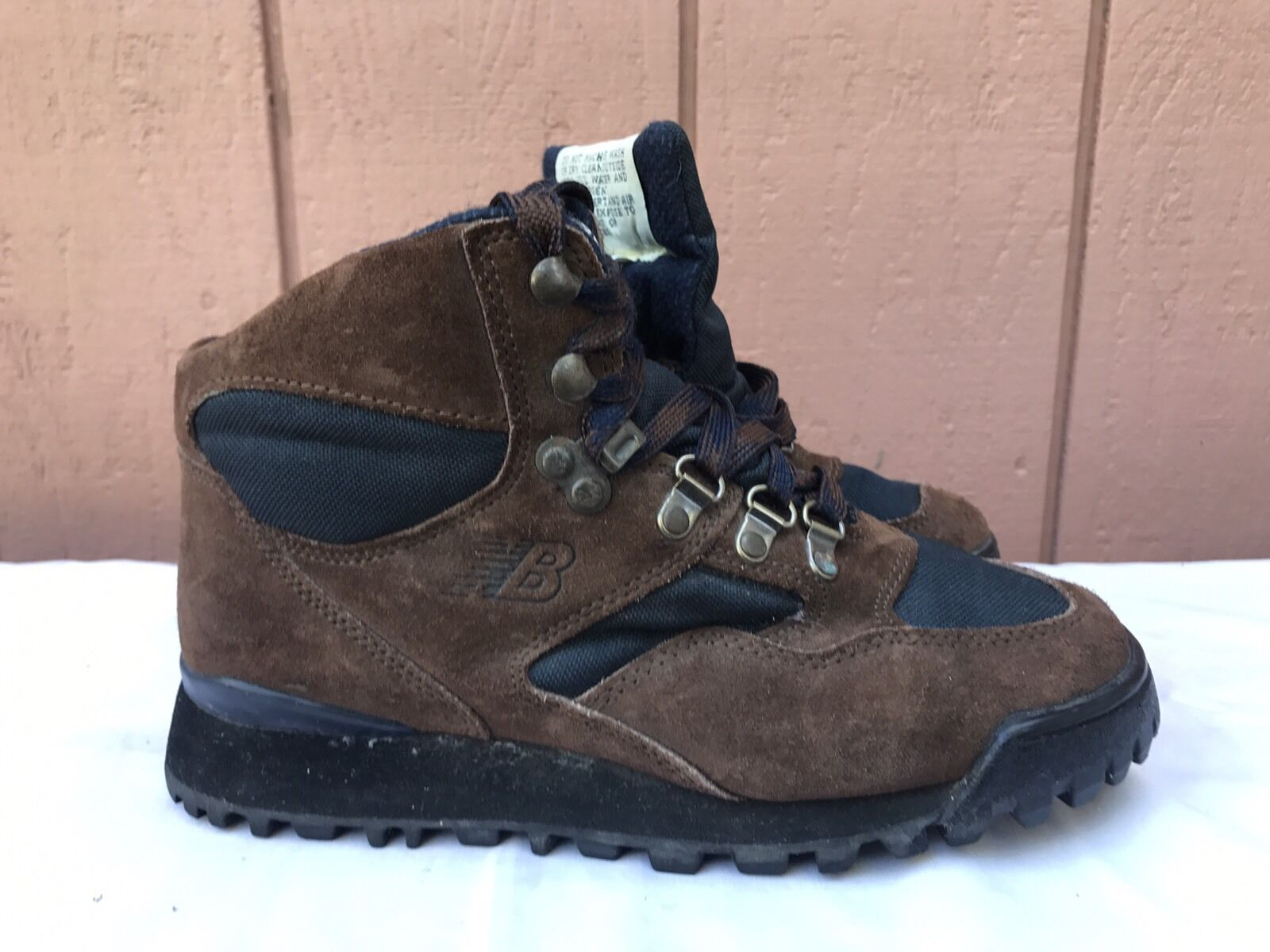 EUC VINTAGE WOMENS NEW BALANCE H415 BROWN SUEDE HIKING BOOTS SIZE US 7
