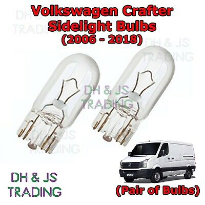 VW Crafter Blue 4-LED Xenon Bright Side Light Beam Bulbs Pair Upgrade