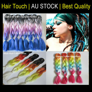 24 ombre 4 color synthetic hair dreadlocks kanekalon jumbo braid image is loading 24 034 ombre 4 color synthetic hair dreadlocks pmusecretfo Choice Image