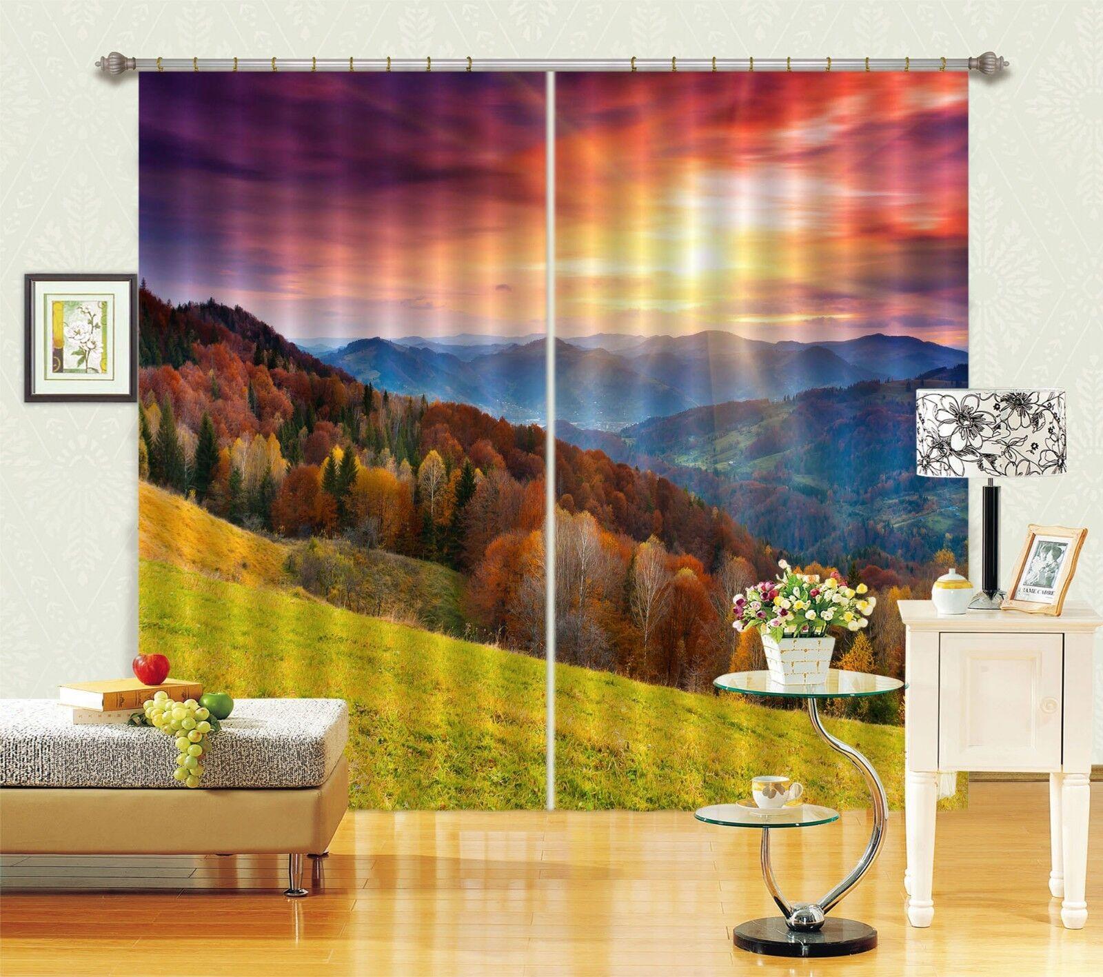 Montaña 3D 901 Cortinas de impresión de cortina de foto Blockout Tela Cortinas Ventana au