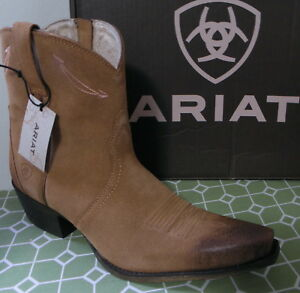 df9658b8af2 Details about ARIAT MARILYN Light Brown Suede Leather Ankle Boot Size 10 M
