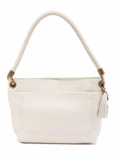 Stone Beige THE SAK  Flores Leather Stitched Hobo Shoulder Handbag