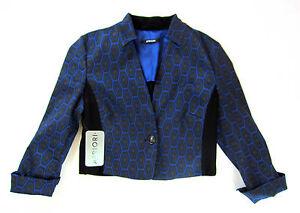 3a3079cbcfb856 Apriori Blazer 38 kurz Bolero Jacke schwarz blau Polyester Sakko neu ...