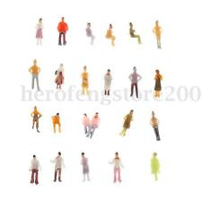 100pcs Mixed Painted Figures Model 1:150 N Scale Railway Park Street People Gift