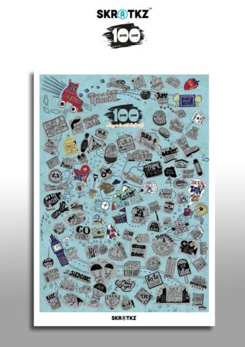 RRP £20 Scratch off poster SALE !101 things to do with the family