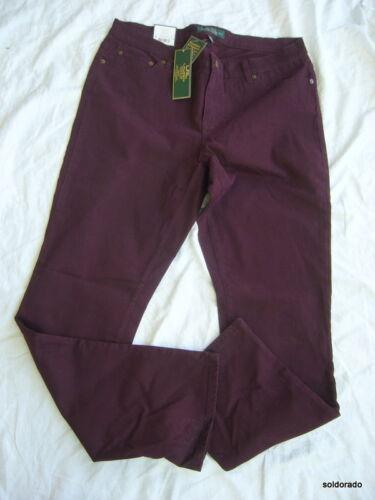 3x Amincissante Femme Lauren neu Bordeaux Ralph 14w 18w Taille Jeans Coupe 1x wqvx6IC