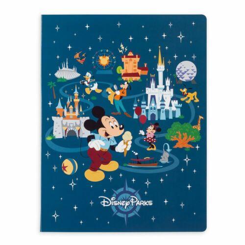 Disney Parks Notepad Folio Set NEW