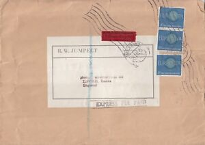 Q3841-Bonn-Gemany-Express-cover-UK-3-x-40-Europa-Cept-stamps-pair-single