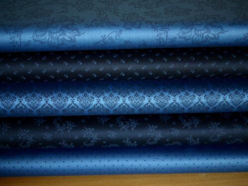 Schürzenstoff Baumwollstoff,Trachtenstoff dunkelblau BW-Popeline,Dirndl nähen