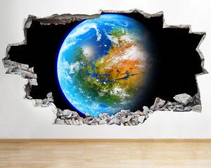 Wall Stickers Earth Space Planet Vinyl Poster Livingroom Bedroom