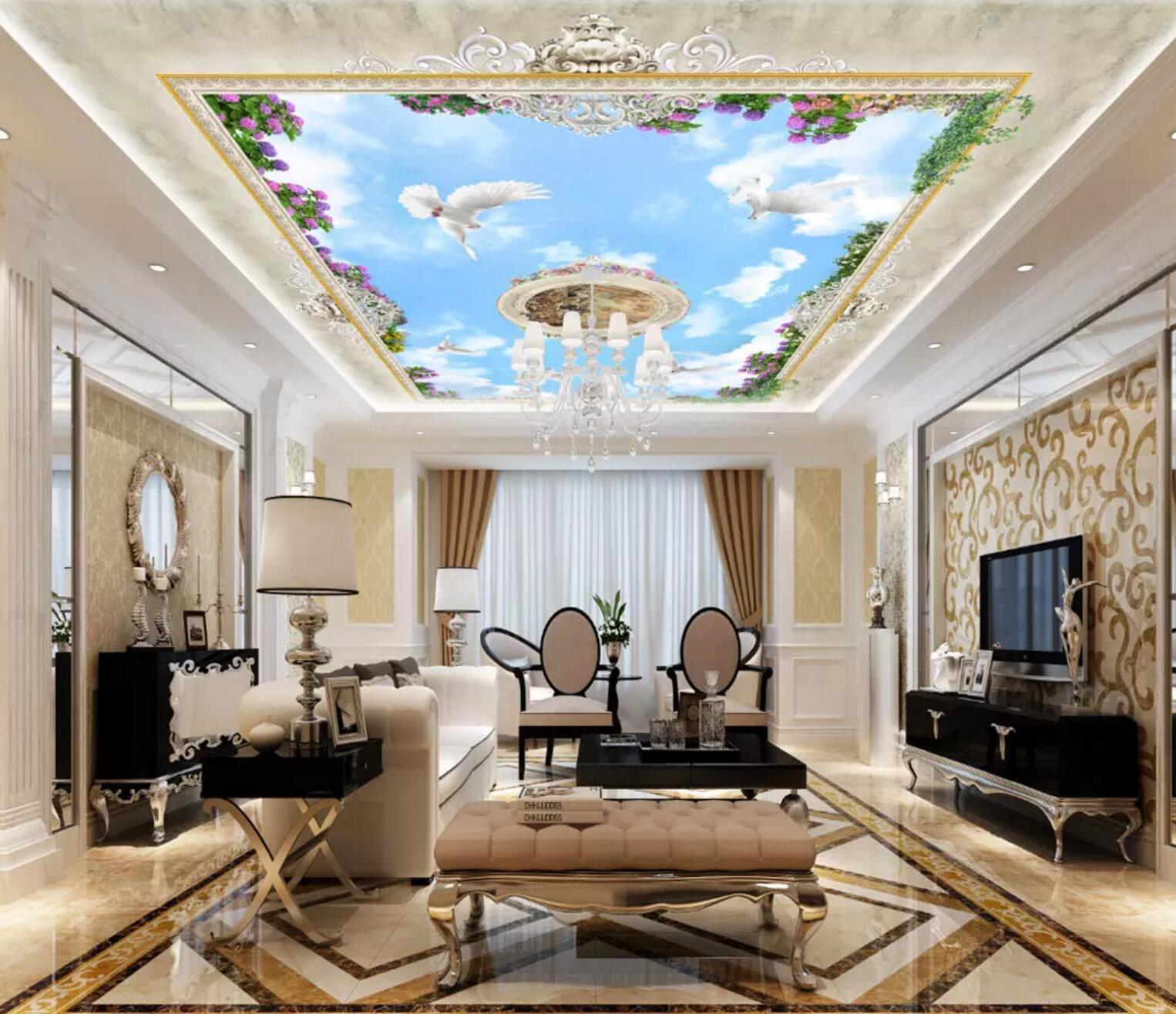 3D Flower Vine Sky Dome 899  Wall Paper Wall Print Decal Wall Deco AJ WALLPAPER