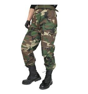 Camuflaje-Woodland-Bdu-Pantalones-6-bolsillos-Tallas-S-M-L-Xl-2-x-3-x