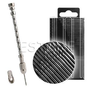 Mini Pin Vise Spiral Hand Manual Push Drill Chuck Drill Bits Bit Jewelry Tool