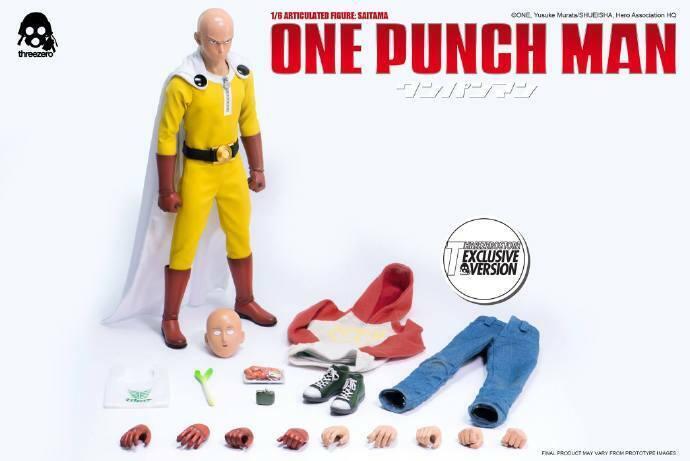 1 6 ThreeZero uno-Punch hombre Anime Juguete Saitama Modelo Figura de Acción Juguetes