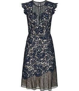 Reiss-June-Lace-Embroidered-Dress-Navy-Blue-Sizes-UK-4-to-16-rrp-250