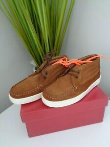 BONPOINT-filles-TAN-SUEDE-HIGH-TOP-shoes-pointure-30-UK-11-5-Infant