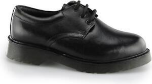 plain black leather school shoes