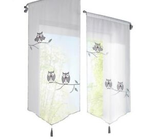 Sensational Kitchen Curtains Window Treatment Cute Owl Pattern Indoor Beutiful Home Inspiration Semekurdistantinfo